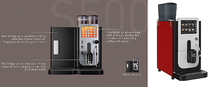 Koffiemachine Rex Royal S500 Volautomaat professioneel koffieapparaat